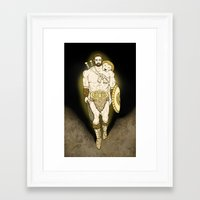 hercules Framed Art Prints featuring Hercules by wyguy5