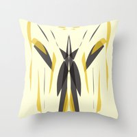 knight Throw Pillows featuring Knight by lillianhibiscus
