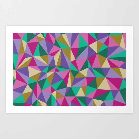 Bright Angles Art Print
