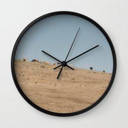 Cattle Graze Wall Clock