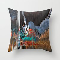 reassurance Throw Pillows featuring The Swan Reassurance by Alix Rumble 2