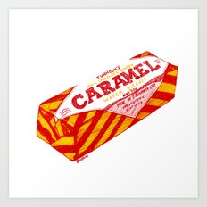 Caramel Wafer pen drawing Art Print