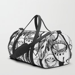 Here for Each Other - b&w Duffle Bag