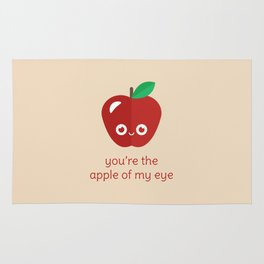You're the Apple of My Eye Rug
