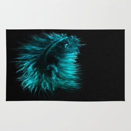 Feather in green-turquoise Rug