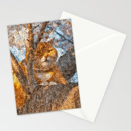Ginger Cheshire Cat Stationery Cards