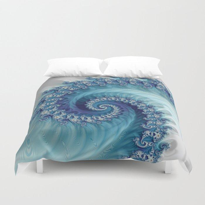 Sound of Seashell - Fractal Art Bettbezug