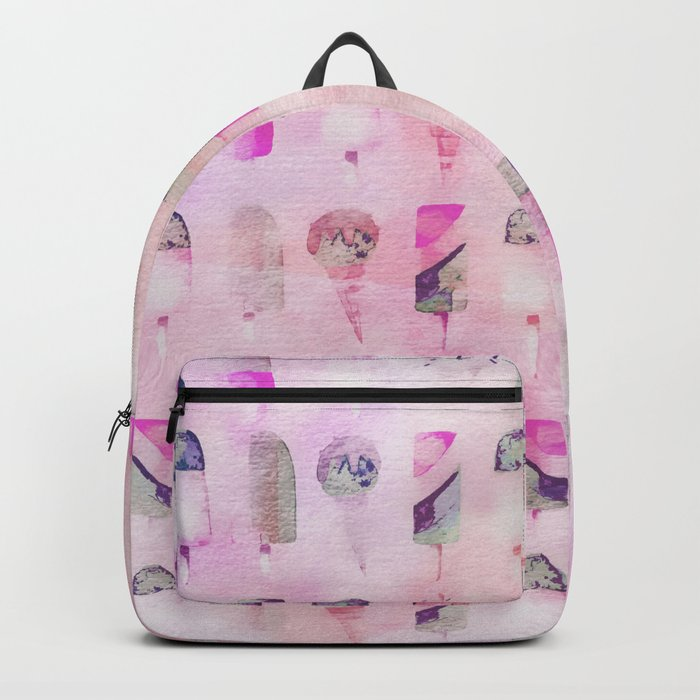 Ice Cream popsicles pastel tone watercolor art Backpack