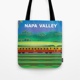 Napa Valley, California - Skyline Illustration by Loose Petals Tote Bag