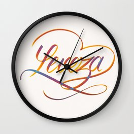 "Leveza (""Levity"" in Portuguese) Wall Clock"