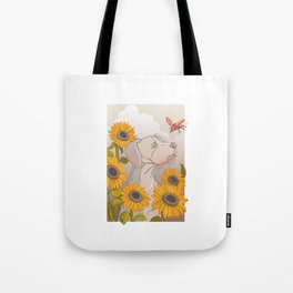 The dog and the beetle Tote Bag