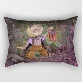 Rucus Studio Pumpkin Man and Fireflies Rectangular Pillow