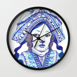 Baby Blue #3 Wall Clock