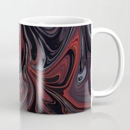 Grey & Red Abstract Painting Coffee Mug