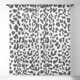 Black & White Leopard Skin Sheer Curtain