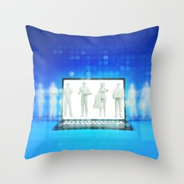 Online Shopping Concept for Products and Services Throw Pillow