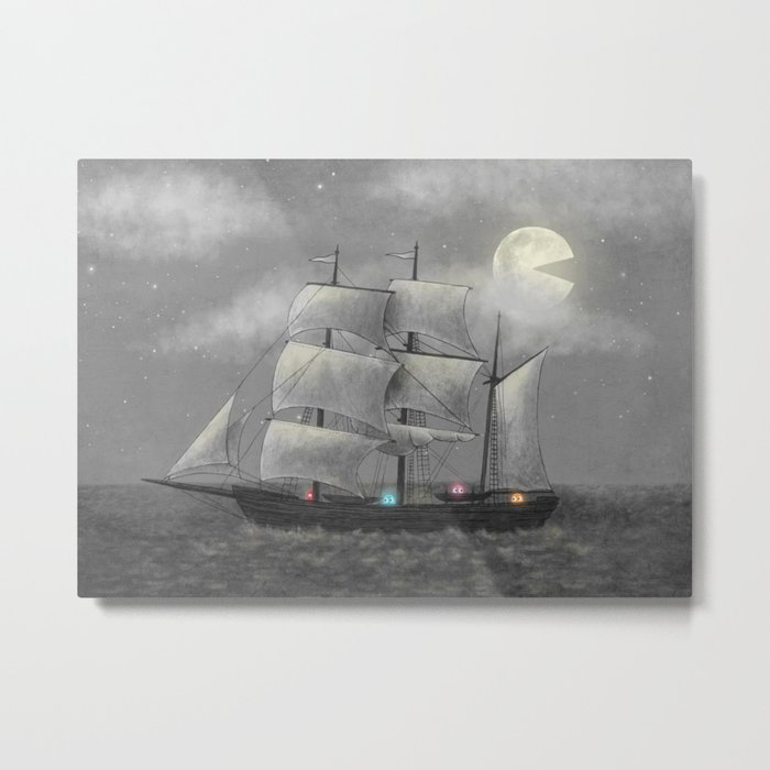 Ghost Ship  Metal Print