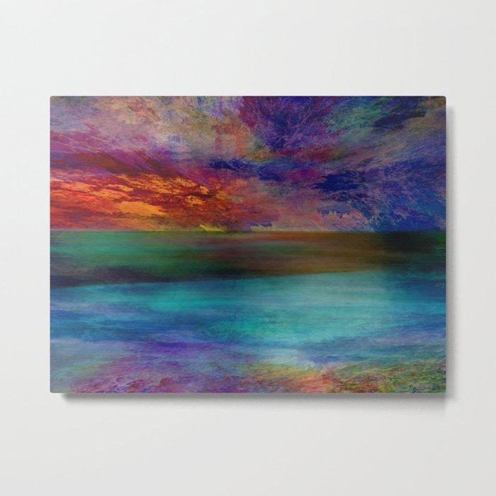 Ocean at Sunset Metal Print