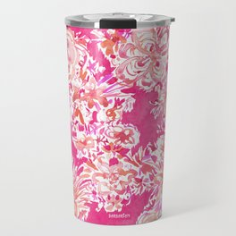 BIG BELIEVER Pink Floral Travel Mug