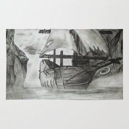 Sailing Cliff-side Rug