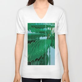 Plant After Rain / Ficus Elastica Unisex V-Neck