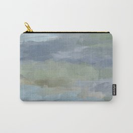 Diptych II - Sky Gray Blue Sage Green Abstract Wall Art, Painting Art, Lake Nature Print Portrait Carry-All Pouch