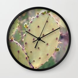 Prickly Pear Closeup Wall Clock