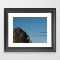Traveling to Sugarloaf mountain Framed Art Print