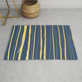 Vertical Living Navy and Gold Rug