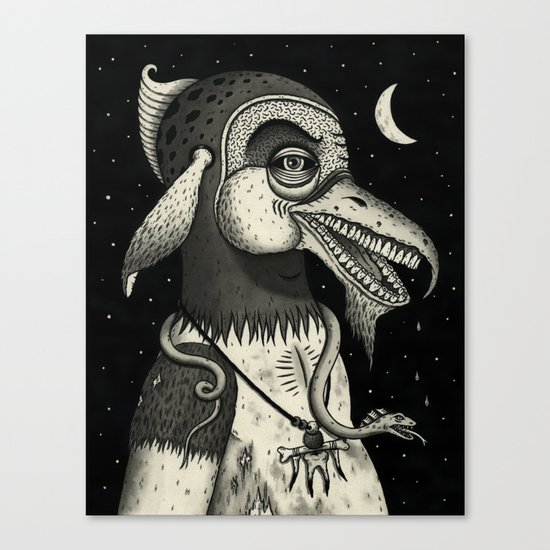 Bearded Fowl with Ambiguous Intentions Canvas Print