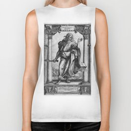 Saint Bartholomew Antique Engraving Biker Tank