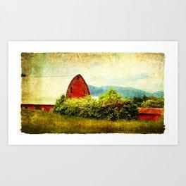 Barn on Potters Falls Art Print