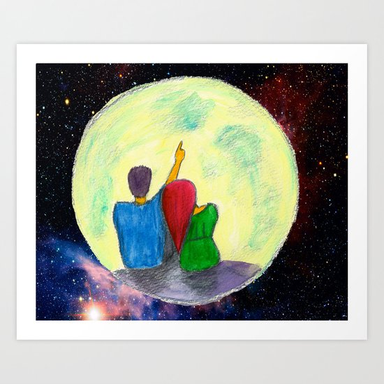 One day, I will take you there...  Art Print