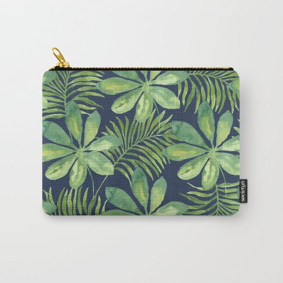 Tropical Branches Pattern on Dark 01 Carry-All Pouch