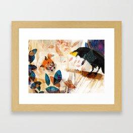 The Raven nad the Fox Framed Art Print