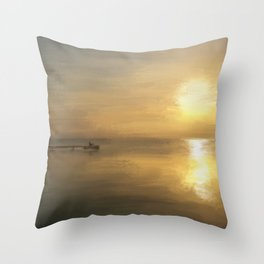 The glass house Throw Pillow