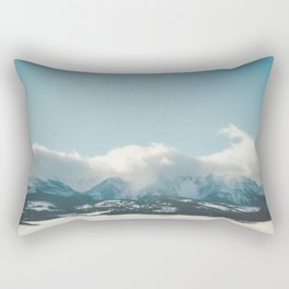 Bridger Mountain Cloud Cover Rectangular Pillow