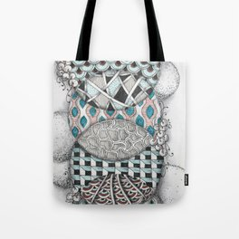 Overlapping Patterned Circles Tote Bag