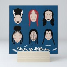 Women of Halloween- Classic Blue Mini Art Print