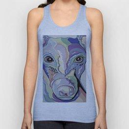 Greyhound in Denim Colors Unisex Tank Top