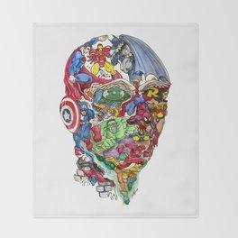 Heroic Mind Throw Blanket