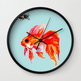 Goldfish and Cicada Wall Clock