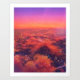 Neonlight Art Print