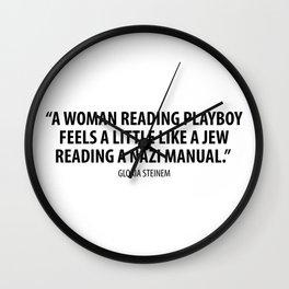 Gloria Steinem quote Wall Clock