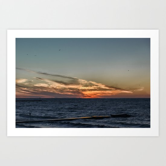 Summer sunset on lake Ontario Art Print