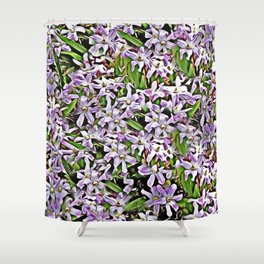 Purple Flowers Galore Shower Curtain
