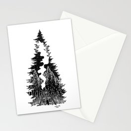 Forest Night Stationery Cards