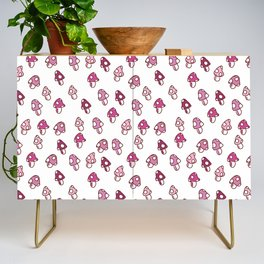 Pink Fairy Toadstools Pattern - seamless pattern Credenza