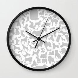 Dog a background Wall Clock