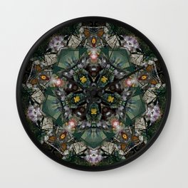 Multifacetted Kaleidoscope 4 Wall Clock